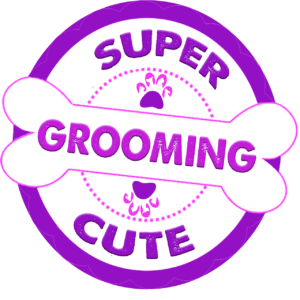 super cute grooming logo